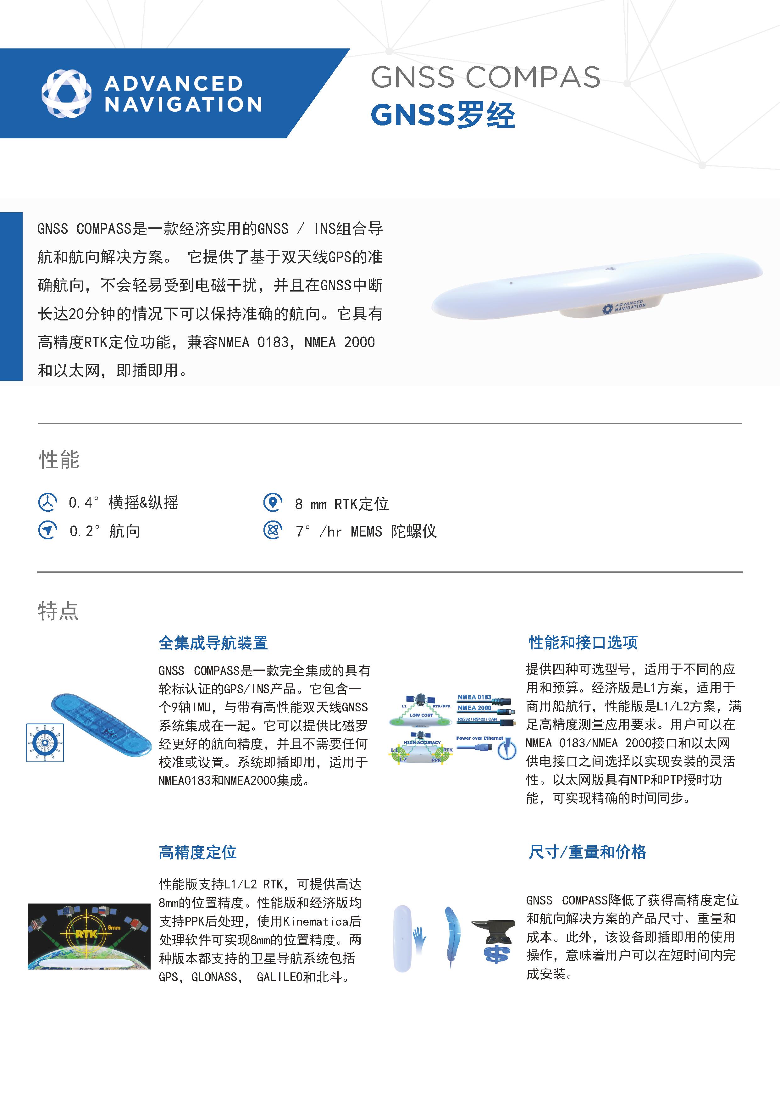 GNSS COMPASS GNSS/GPS罗经
